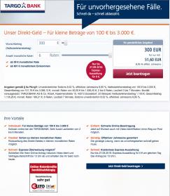 Kreditantrag Direkt-Geld TargoBank
