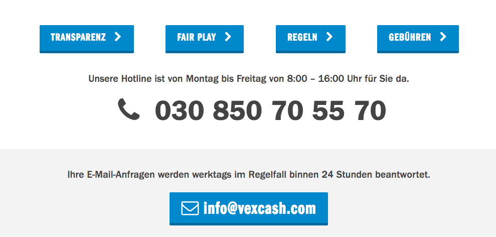 Vexcash Service