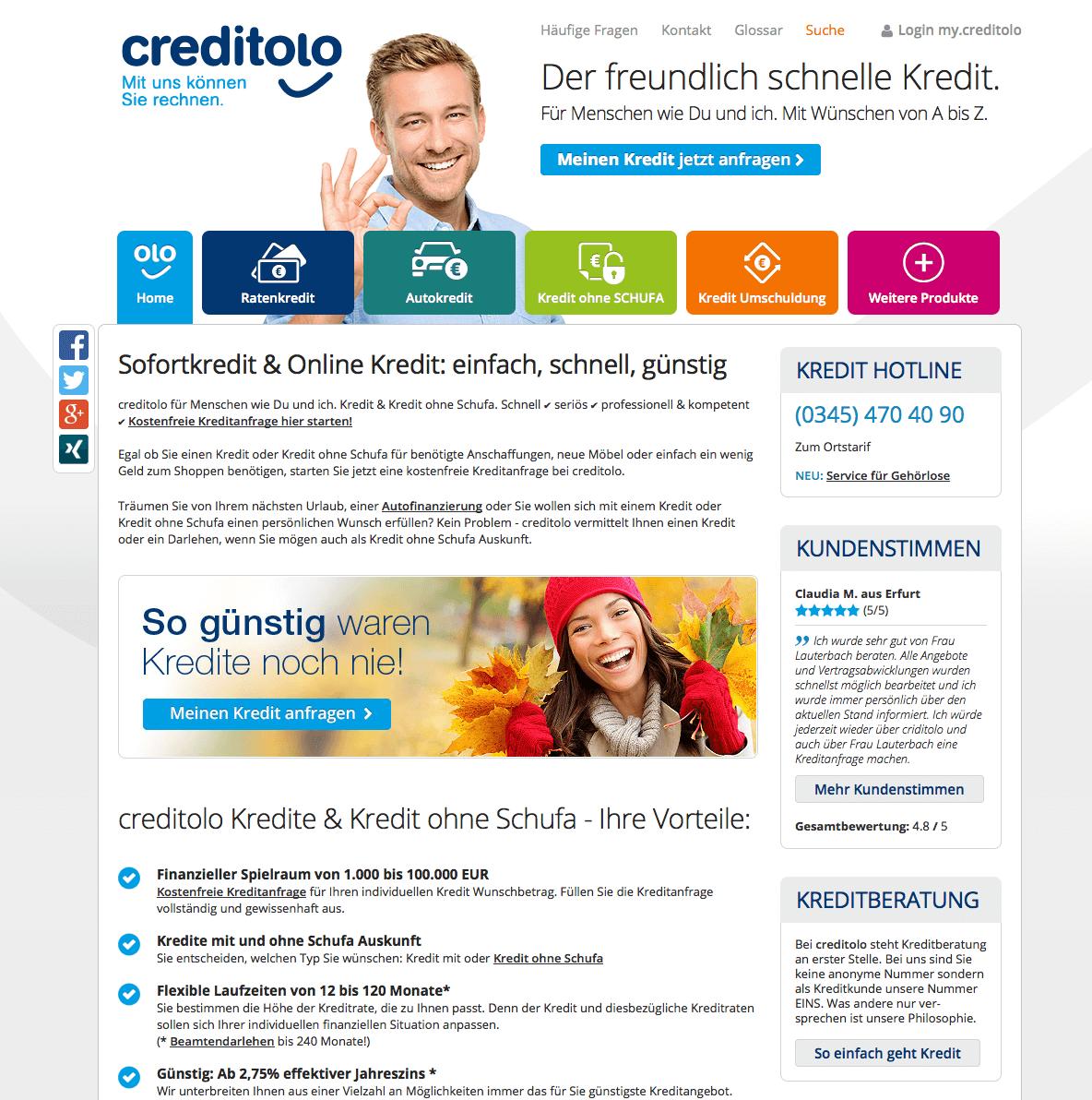 Creditolo vergleich