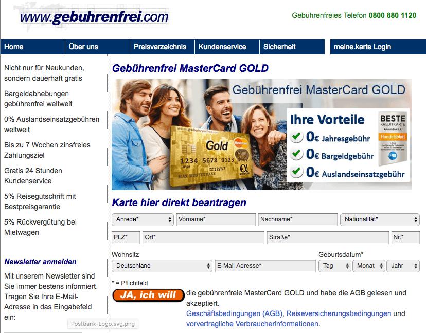 Advanzia kostenlose Kreditkarte