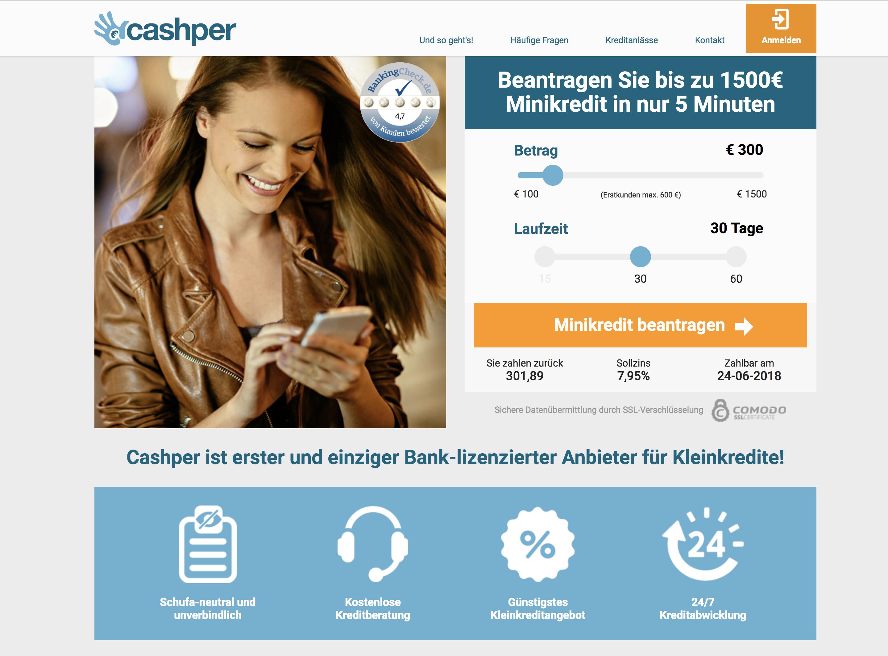 cashper webseite