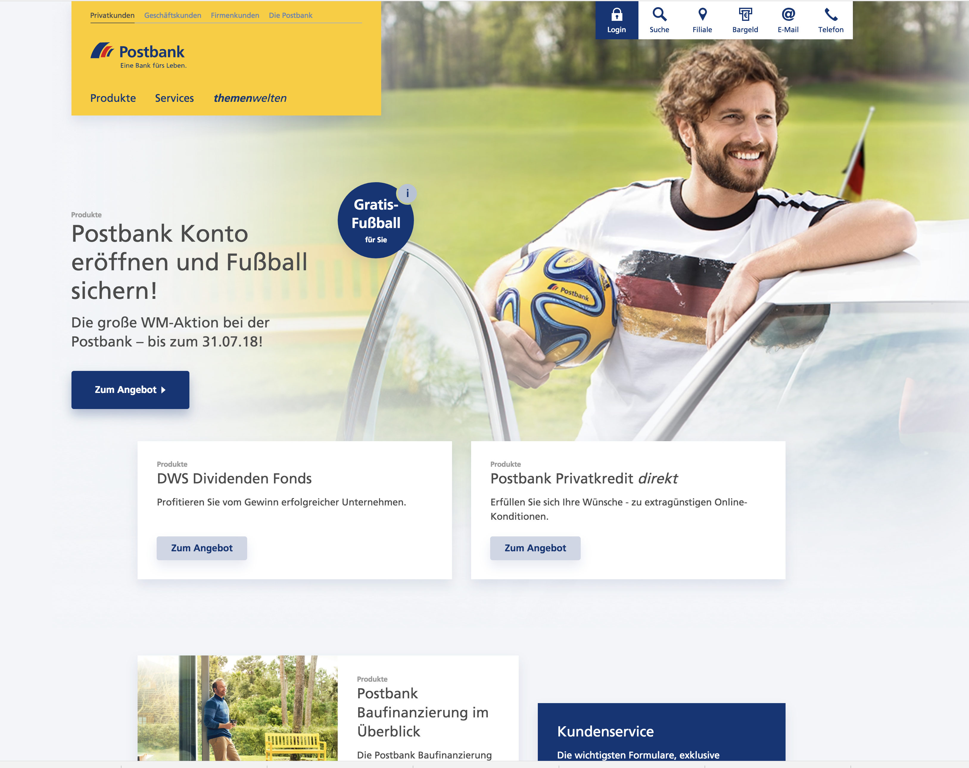 postbank webseite